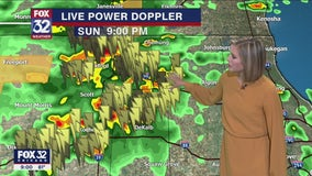 Storms heading through Chicago and suburbs overnight Sunday into Monday