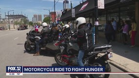 Deerfield man kickstarts cross-country motorcycle ride to fight hunger
