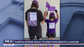 Thousands across U.S. get ready for Chicago's PurpleStride walk to end pancreatic cancer