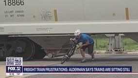 Freight train frustrations: Alderman says trains sitting still, blocking vehicles and pedestrians