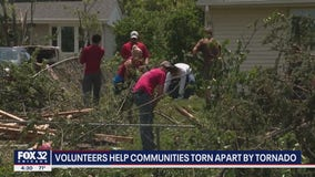 Home Depot and volunteers help communities torn apart by tornado with debris cleanup