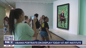 Obama portraits on display today at art insitute