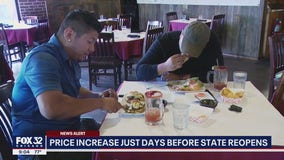 Expect higher menu prices as Illinois reopens: analysts