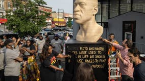 George Floyd statue unveiled in Brooklyn as Juneteenth marked across US
