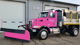 Pink plow to clear the streets of Romeoville next winter in support of breast cancer awareness