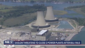 Exelon threatens to close 2 power plants after Illinois lawmakers fail to pass energy bill