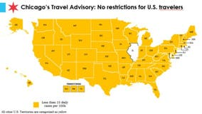 Chicago travel order shifts to an advisory as no states on city's restricted list again