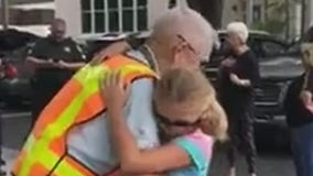 Florida school honors 92-year-old crossing guard on retirement