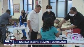 Saint Sabina Summer Kickoff: Chicago church outreach program includes food, vaccinations