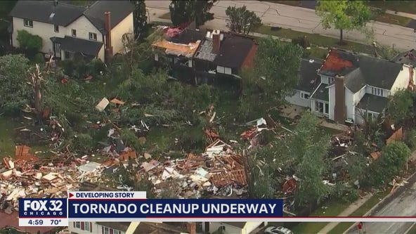 Naperville tornado damage: 300 remain without power, expect rolling power outages and road closures