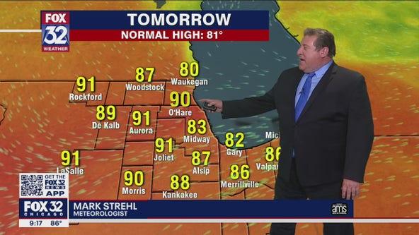 10 p.m. forecast for Chicagoland on June 18