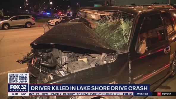 Man killed, 3 injured in high-speed crash on Lake Shore Drive