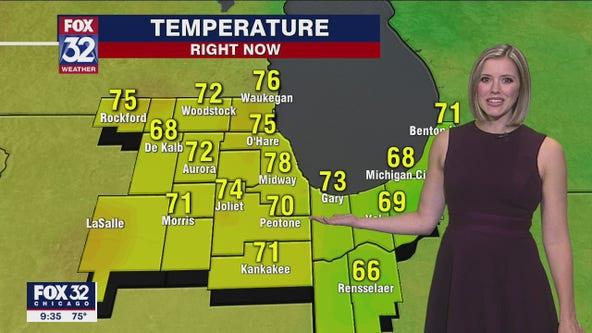 10 p.m. forecast for Chicagoland on June 23