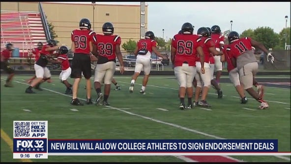 Proposed Illinois law would allow college athletes to profit off their name, sign endorsement deals