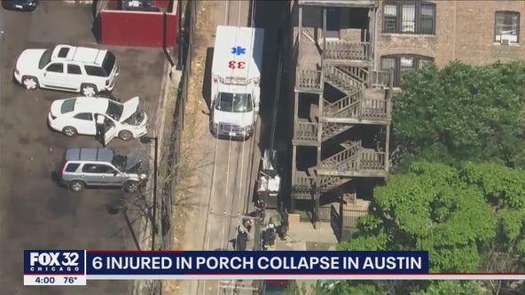 6 people injured after porch collapses in Austin