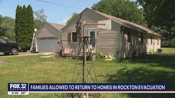 Families allowed to return to homes after Rockton chemical plant fire, evacuation