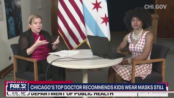 Chicago's top doctor recommends children still wear masks