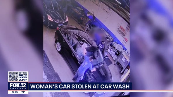 Surveillance video shows Chicago woman's vehicle being stolen during car wash