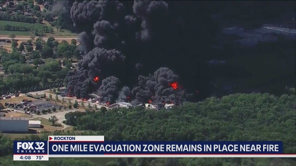 Rockton chemical plant fire: EPA monitoring air quality, 1 mile evacuation zone remains in place