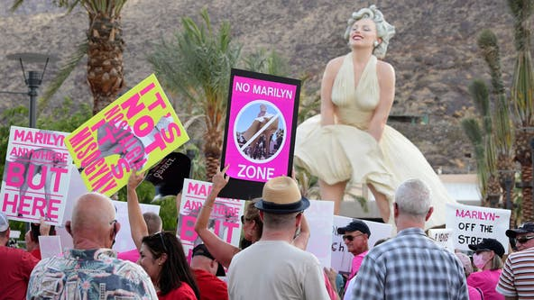 Nostalgia or upskirting? Protesters say Marilyn Monroe statue once displayed in Chicago is offensive