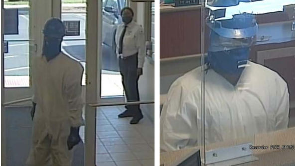 Police: Man in 'hazmat' suit robs bank in Munster, Indiana
