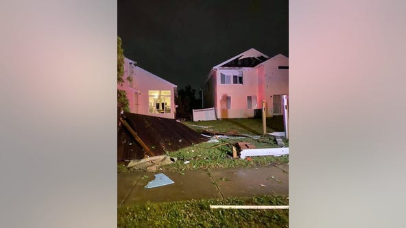Tornado touches down in Chicago suburbs, damaging homes and power lines