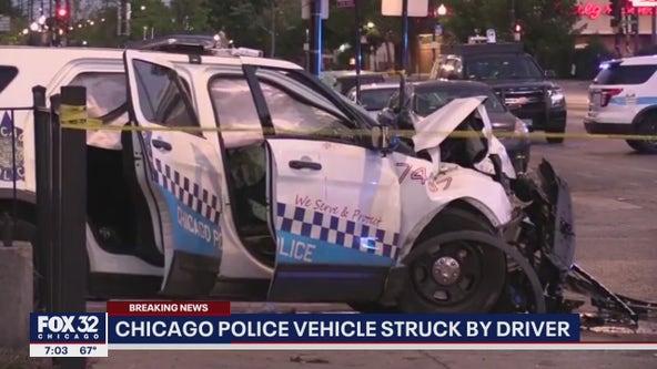2 Chicago cops, driver injured in West Side crash