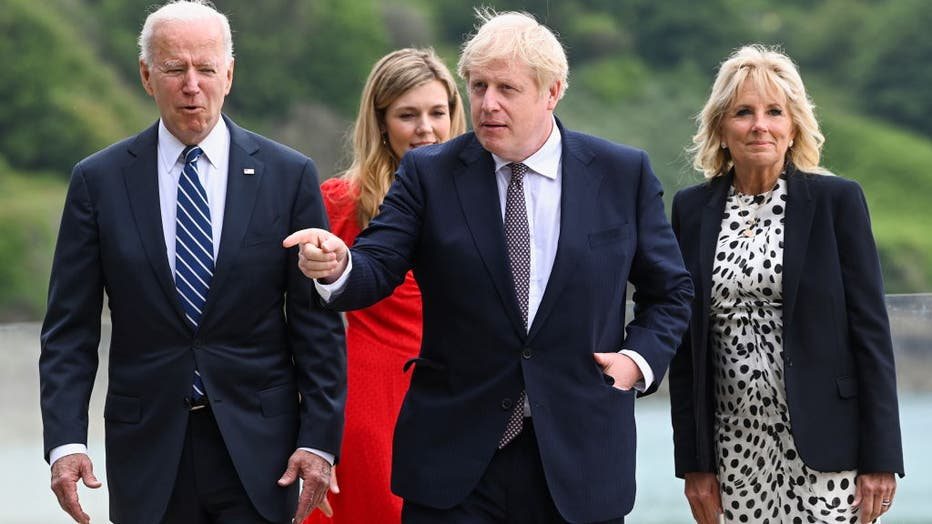UK Prime Minister Meets With US President Ahead Of The G7 Summit