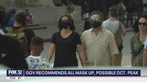 CDC recommends all mask up, possible October peak