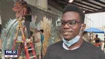 Chicago kids create mural to beautify Englewood neighborhood