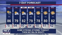 Severe thunderstorms possible overnight into Thursday