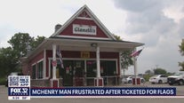 McHenry County man frustrated after being ticketed for American flags