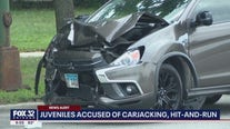 Two juveniles in custody after carjacked car crash in Chicago