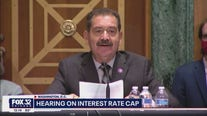 Rep. Chuy Garcia speaks at hearing on interest rate cap