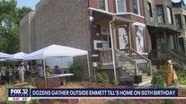 Chicagoans gather outside Emmett Till's home on 80th birthday
