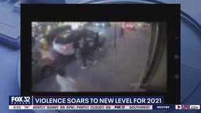 Security videos show brazen shooting, armed robbery in Chinatown