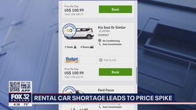 Rental car shortage leads to price spike