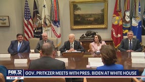 Illinois Gov. Pritzker meets with Biden at White House