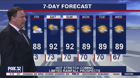 Morning forecast for Chicagoland on July 22nd