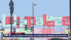 Lollapalooza concert-goers need vaccine card or negative COVID test to get in