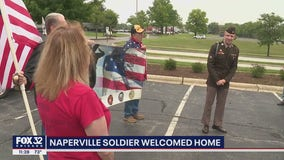 Naperville soldier welcomed home from Korea
