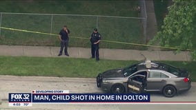 Man, 6-year-old boy shot outside home in Dolton