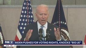 Biden calls Trump's claim of a stolen election 'a big lie'