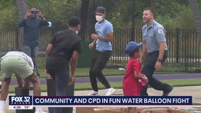 West Side water balloon fight brings together Chicago cops, community
