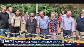 New bike share rental opens along Illinois and Michigan Canal