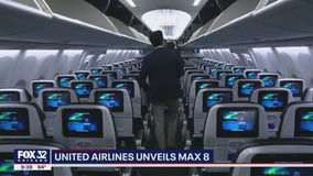 United Airlines unveils new jet: Boeing 737 Max 8