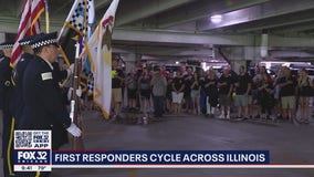 First responders cycle across Illinois to support families of police officers killed in the line of duty