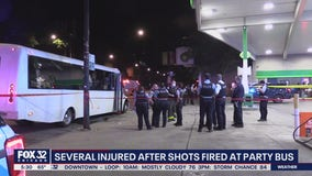 8 wounded on party bus when gunmen from 3 cars open fire in Lincoln Park