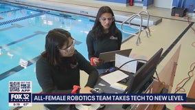 All-girls robotic team at Hoffman Estates High School competing internationally