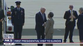 Biden's first presidential visit to Illinois